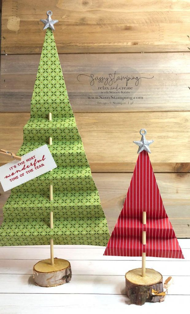 Heartwarming Hugs Paper Christmas Trees