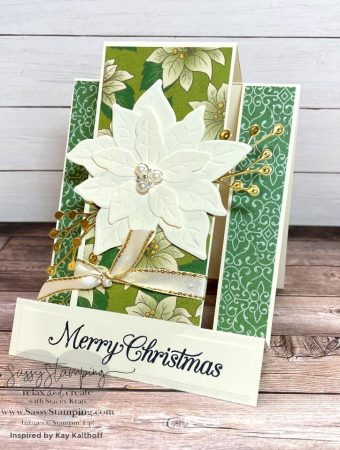 Vanilla Poinsettia Card